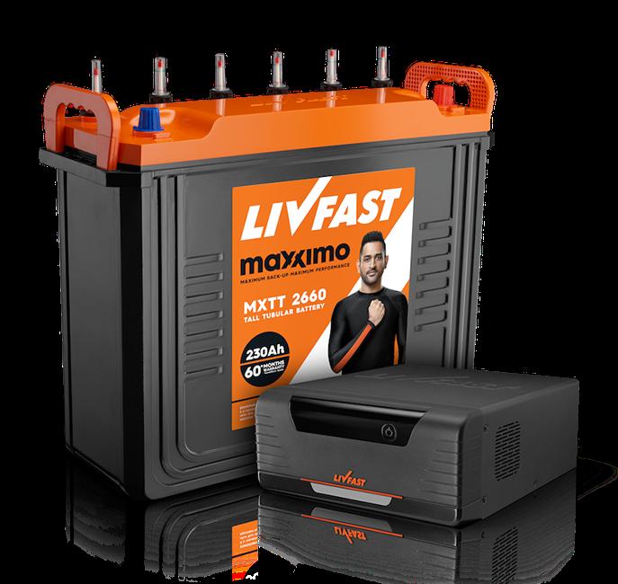 Livfast Inverter Battery 1050VA + 150Ah Price