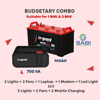 Livguard LG700E Home UPS Inverter and IT1048ST 100AH Tubular Battery 36M Wrnty Combo Chennai