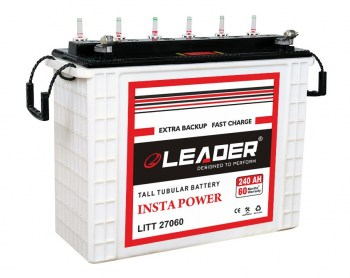 Leader 240Ah Tall Tubular Inverter Battery