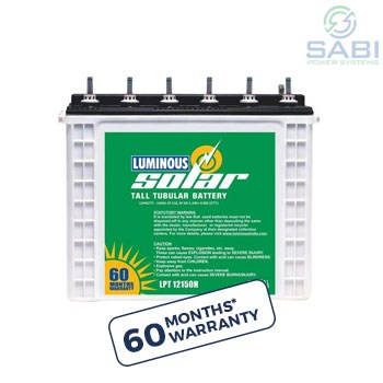 Solar Luminous Solar 150 Ah Tall Tubular Battery